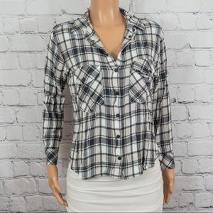 Sanctuary (Bloomingdales) plaid button down top